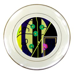 Crazy abstraction by Moma Porcelain Plates