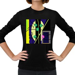Crazy abstraction by Moma Women s Long Sleeve Dark T-Shirts