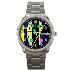 Crazy abstraction by Moma Sport Metal Watch