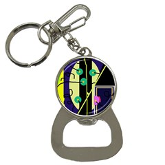 Crazy abstraction by Moma Bottle Opener Key Chains