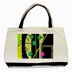 Crazy abstraction by Moma Basic Tote Bag
