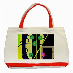Crazy abstraction by Moma Classic Tote Bag (Red)