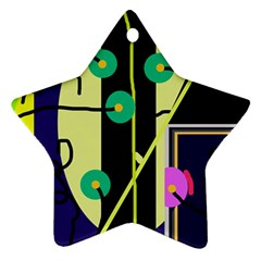 Crazy abstraction by Moma Star Ornament (Two Sides)
