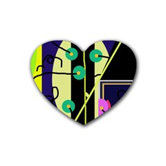 Crazy abstraction by Moma Heart Coaster (4 pack)