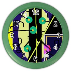 Crazy abstraction by Moma Color Wall Clocks