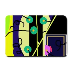 Crazy abstraction by Moma Small Doormat