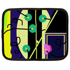 Crazy abstraction by Moma Netbook Case (Large)