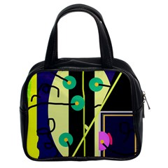 Crazy abstraction by Moma Classic Handbags (2 Sides)