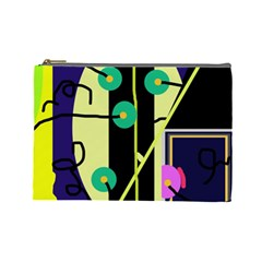 Crazy abstraction by Moma Cosmetic Bag (Large)