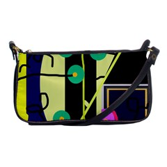 Crazy abstraction by Moma Shoulder Clutch Bags