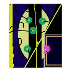 Crazy abstraction by Moma Shower Curtain 60  x 72  (Medium)