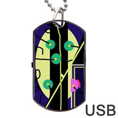 Crazy abstraction by Moma Dog Tag USB Flash (One Side)