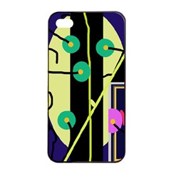 Crazy abstraction by Moma Apple iPhone 4/4s Seamless Case (Black)