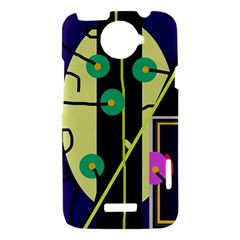 Crazy abstraction by Moma HTC One X Hardshell Case