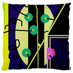 Crazy abstraction by Moma Large Cushion Case (One Side)