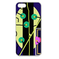 Crazy abstraction by Moma Apple Seamless iPhone 5 Case (Clear)