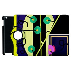 Crazy abstraction by Moma Apple iPad 3/4 Flip 360 Case