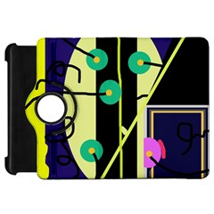 Crazy abstraction by Moma Kindle Fire HD Flip 360 Case