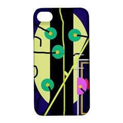 Crazy abstraction by Moma Apple iPhone 4/4S Hardshell Case with Stand