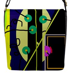Crazy abstraction by Moma Flap Messenger Bag (S)