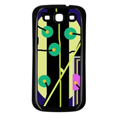 Crazy abstraction by Moma Samsung Galaxy S3 Back Case (Black)
