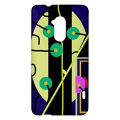 Crazy abstraction by Moma HTC One Max (T6) Hardshell Case