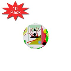 Green abstract artwork 1  Mini Buttons (10 pack)