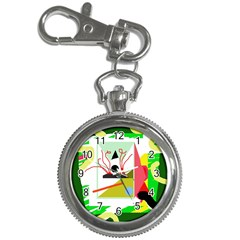 Green abstract artwork Key Chain Watches