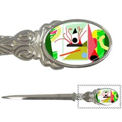 Green abstract artwork Letter Openers