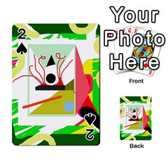 Green abstract artwork Playing Cards 54 Designs