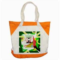 Green abstract artwork Accent Tote Bag