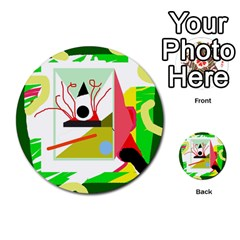 Green abstract artwork Multi-purpose Cards (Round)