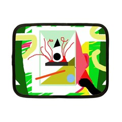 Green abstract artwork Netbook Case (Small)