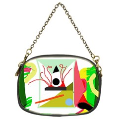 Green abstract artwork Chain Purses (Two Sides)
