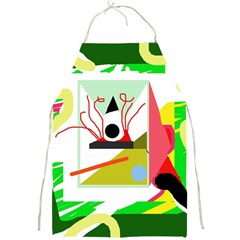Green abstract artwork Full Print Aprons