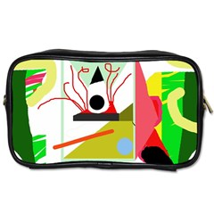 Green abstract artwork Toiletries Bags 2-Side