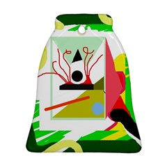 Green abstract artwork Ornament (Bell)