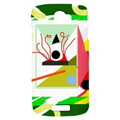 Green abstract artwork HTC One S Hardshell Case