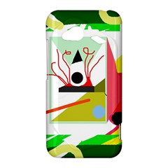 Green abstract artwork HTC Droid Incredible 4G LTE Hardshell Case
