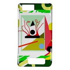 Green abstract artwork Motorola DROID X2