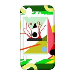 Green abstract artwork LG Optimus P970