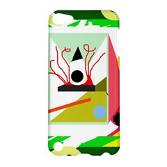 Green abstract artwork Apple iPod Touch 5 Hardshell Case