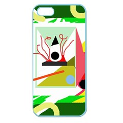 Green abstract artwork Apple Seamless iPhone 5 Case (Color)