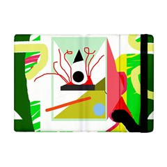 Green abstract artwork Apple iPad Mini Flip Case