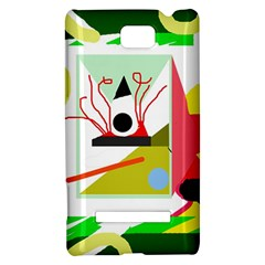 Green abstract artwork HTC 8S Hardshell Case