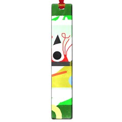 Green abstract artwork Large Book Marks