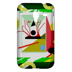 Green abstract artwork Samsung Galaxy Ace Plus S7500 Hardshell Case