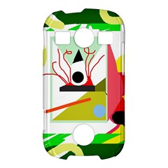 Green abstract artwork Samsung Galaxy S7710 Xcover 2 Hardshell Case