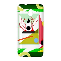 Green abstract artwork HTC One Mini (601e) M4 Hardshell Case