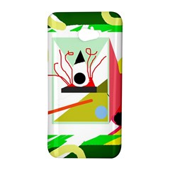Green abstract artwork HTC Butterfly S/HTC 9060 Hardshell Case